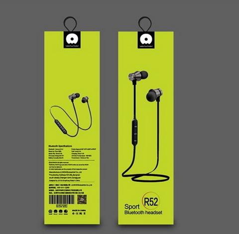 Наушники вакуумные Bluetooth WUW R52, black
