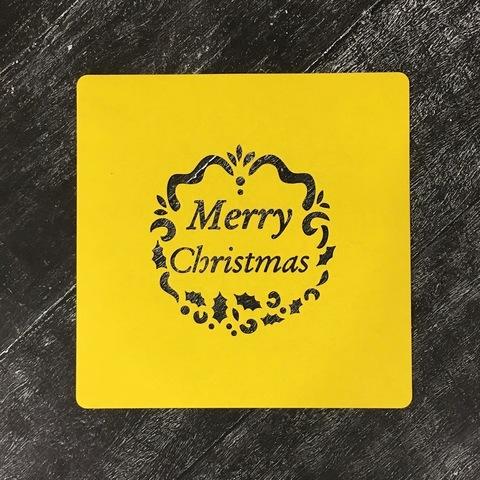 Трафарет новогодний №38 Merry Christmas