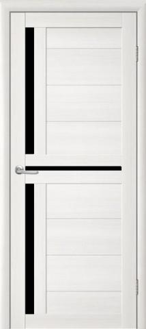 Дверь TrendDoors TDT-5, стекло чёрный акрилат, цвет лиственница белая, остекленная
