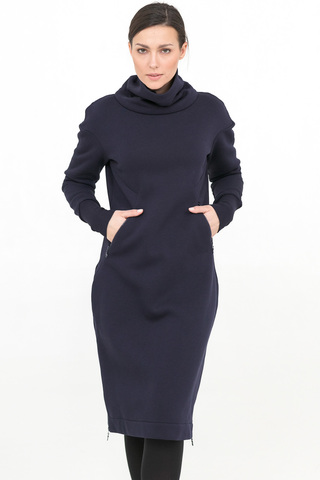 Платье Skinny темно-синее