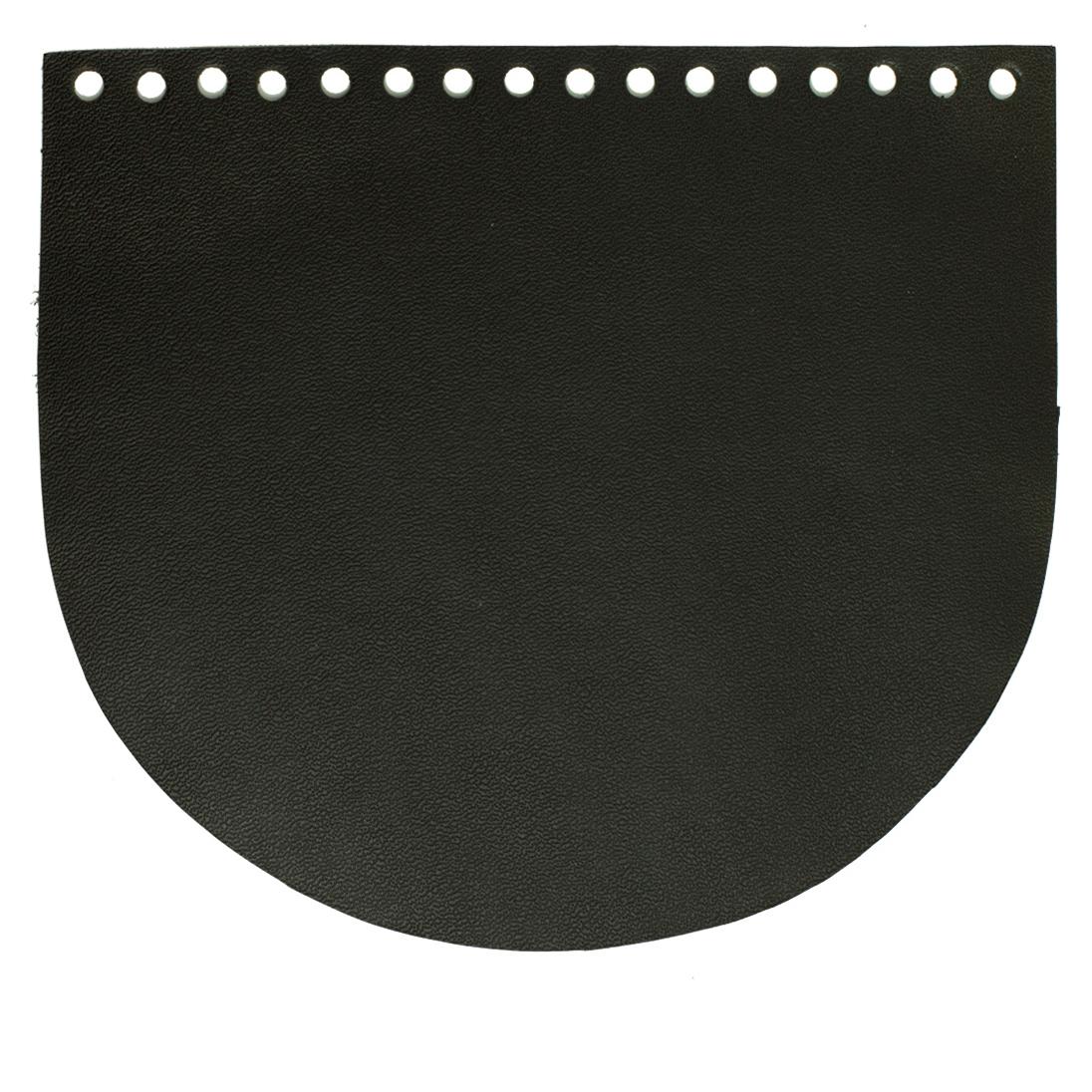 Кожаная фурнитура Клапан для сумочки кожаный черный IMG_756311112222.jpg