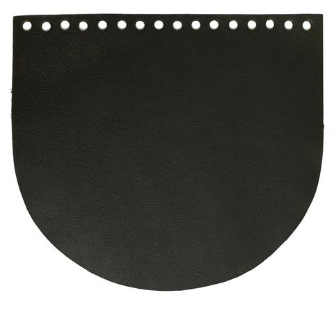 Клапан для сумочки кожаный черный