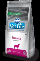 Корм для собак FARMINA Vet Life STRUVITE лечение и профилактика МКБ струвитных уролитов