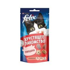 Purina Felix хрустящее лакомство для кошек Говядина 60 гр