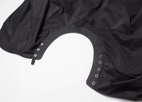Накидка Ставвер Коллар Кейп для стрижки с кнопками черная 128*148