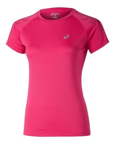 Футболка Asics Stripe SS pink женская