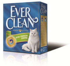 EVER CLEAN Extra Strong Clumping Unscented Наполнитель д/кошек без ароматизатора (голубая полоса)