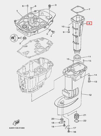 Глушитель для лодочного мотора F20 Sea-PRO (21-8)