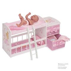DeCuevas Кроватка для куклы двухъярусная серии Мария, 80 см (54323)