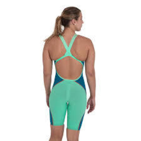 Стартовый костюм SPEEDO FASTSKIN LZR PURE INTENT Openback Kneeskin greeb/blue ПОД ЗАКАЗ