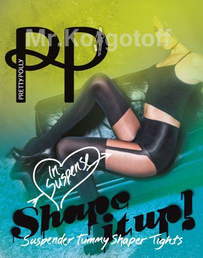 Колготки Pretty Polly Suspender Tummy Shaper Tights (ARF3)