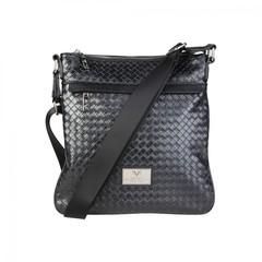 Мужская сумка-планшет Versace V1969 NEWCROSS_WOVEN_NERO