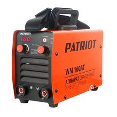 Аппарат сварочный инверторный PATRIOT WM 160AT MMA, входное напряжение: 1ф,140-240В; сварочный ток мин/макс: 20/160A; ПВ при макс. токе: 60%@40°C, ARC FORCE, ANTI STICK, HOT START, TIG LIFT