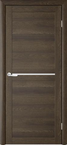 Дверь TrendDoors TDT-6, стекло белое матовое, цвет дуб оксфорд, остекленная