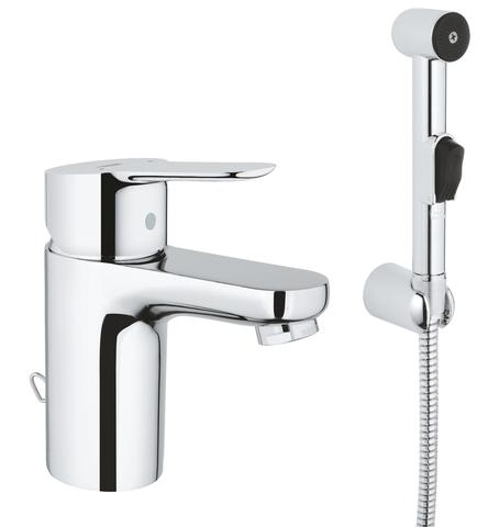 BauEdge Смеситель для раковины с гигиеническим душем, S-Size, цепочка