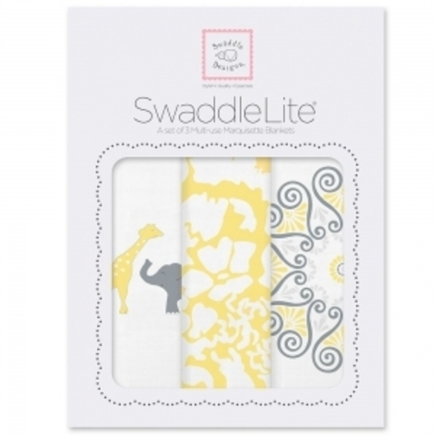 Набор пеленок SwaddleDesigns SwaddleLite SC Elephant/Chickies