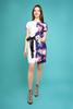Платье Арина цветок на синем+белый