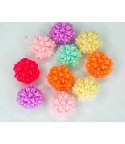 181 стразы цветочки разноцветные 10 шт