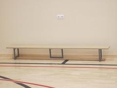 Скамейка гимнастическая на металлических ножках 3.0м (многослойная клеенная древесина).