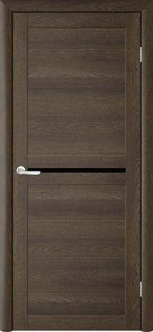 Дверь TrendDoors TDT-6, стекло чёрный акрилат, цвет дуб оксфорд, остекленная