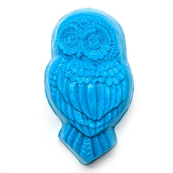 Мыло Сова, изготовлено вручную с помощью формы