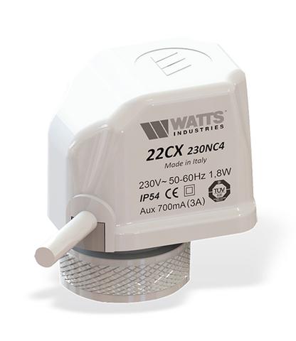 Сервопривод Watts 22CX24NC2 (24В) нормально закрытый арт. 10029673
