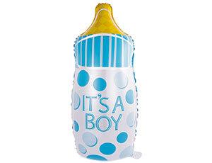 На выписку из роддома Фольгированный шар голубая бутылочка 1207-3005_m1.jpg