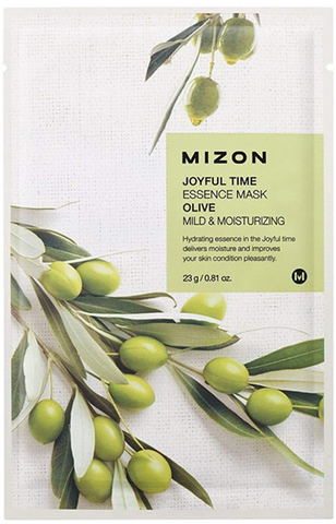 MIZON Тканевая маска для лица с экстрактом оливы Joyful Time Essence Mask Olive