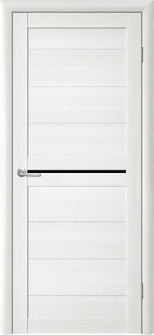 Дверь TrendDoors TDT-6, стекло чёрный акрилат, цвет лиственница белая, остекленная
