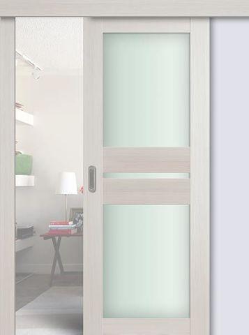 Дверь раздвижная Profil Doors №70Х, стекло матовое, цвет эш вайт мелинга, остекленная