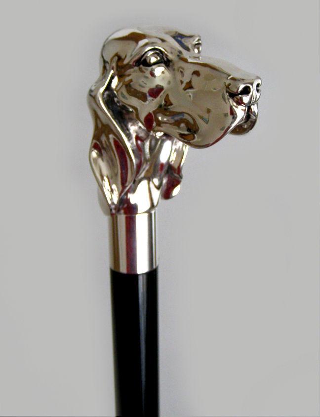 Pasotti мужской зонт-трость Setter (серебряный сеттер)