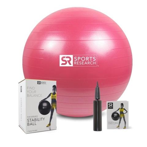 Фитнес-мяч Sports Research, розовый