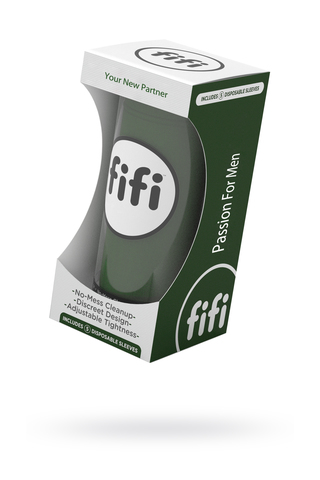 Мастурбатор нереалистичный FIFI MALE, текстиль, зелёный фото