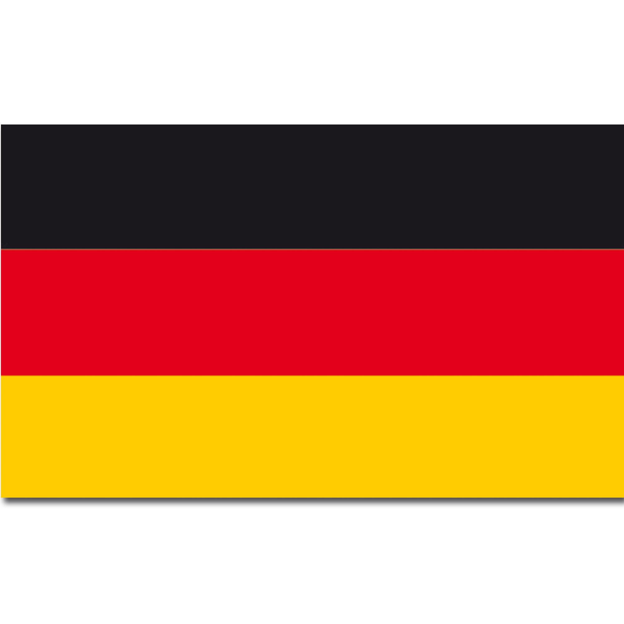 основе картинки с немецким флагом и гербом держит персик, тыкву