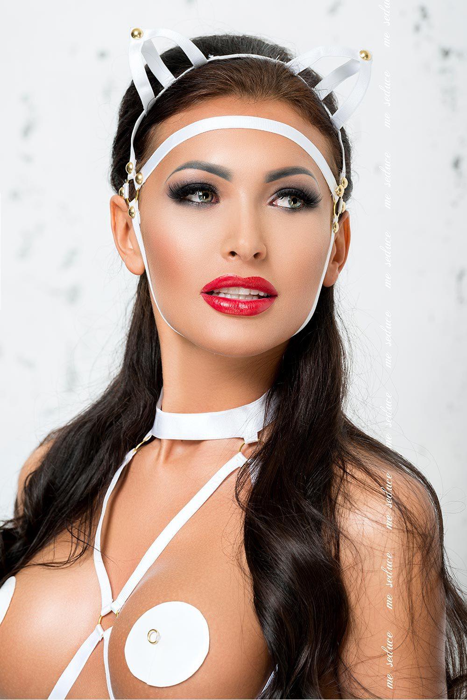 Белая маска MK07 (Эротические маски)
