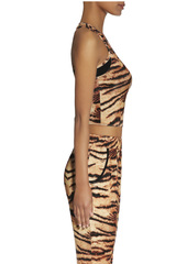 Спортивная топ-майка тигровой окраски