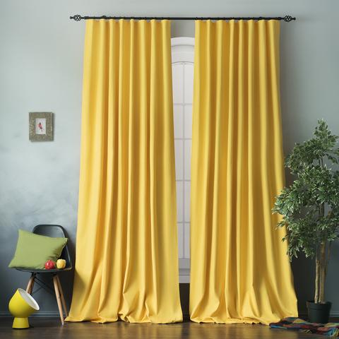 Комплект хлопковых штор Эмми желтый