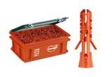 Дюбель нейлоновый Mungo MN диаметр 8 мм в пластиковом ящике (Mini-Box) 1300 шт