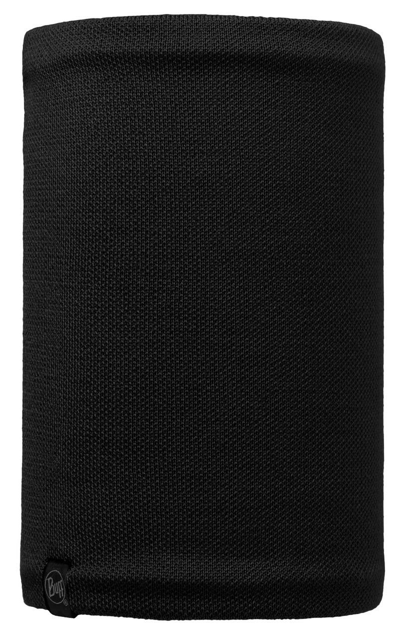 Вязаный шарф-труба с флисовой подкладкой Buff Neo Black