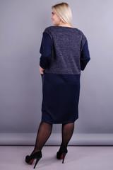 Виши. Повседневное женское платье плюс сайз. Синий.