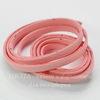 Шнур замшевый (искусств), 6х1,5 мм, цвет - розовый, примерно 1 м