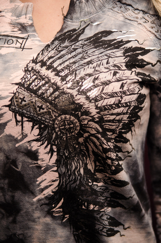 Пуловер AFFLICTION HEADDRESS PAINT