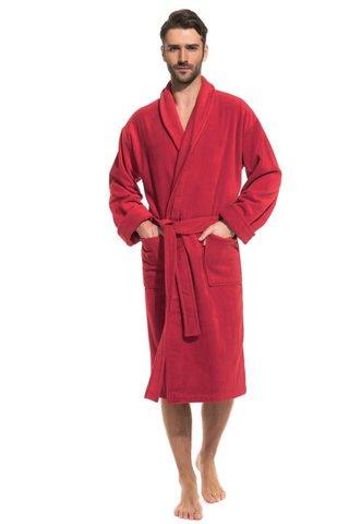 Мужской махровый халат Optimum 941 красный PECHE MONNAIE   Россия