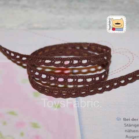 Кружево вязаное СК07-К (коричневое) 90см
