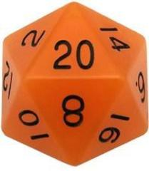 Mega Acrylic D20: Glow Orange with Black Numbers