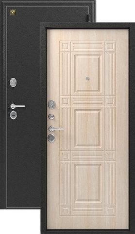 Сейф-дверь входная Зевс Z-6, 2 замка, 2 мм  металл, (серебро+дуб седой)