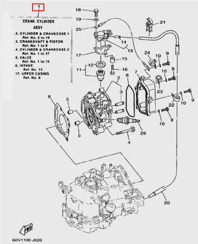 Двигатель в сборе для лодочного мотора F5 Sea-PRO(2-1)