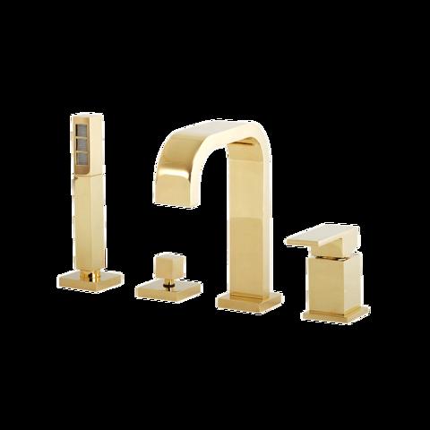 Смеситель Migliore Kvant Gold 25392 на борт ванны , золото
