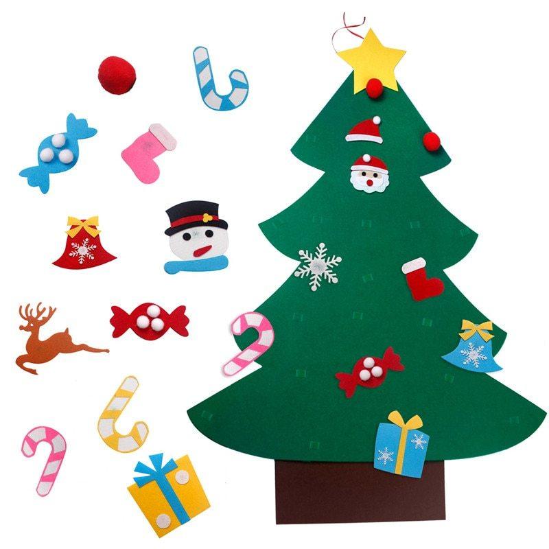 Новогодняя елка из фетра с игрушками - купить по выгодной ...