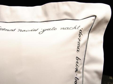 Наволочка 70х70 Christian Fischbacher Luxury Nights Sweet Dreams 557 антрацит